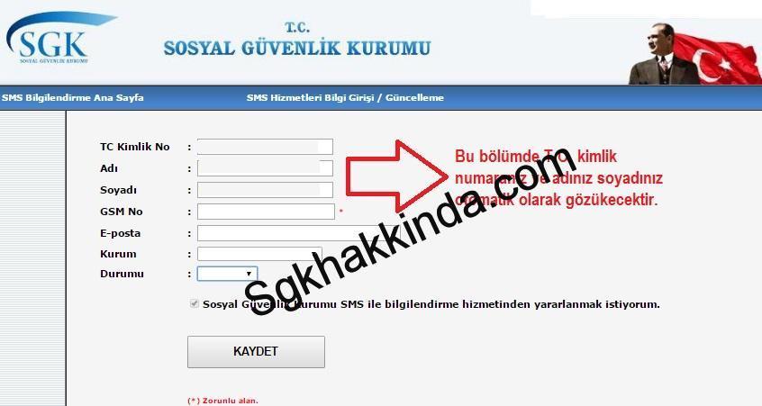 sms 1 - SGK'nın sms servisinden nasıl faydalanabilirim?